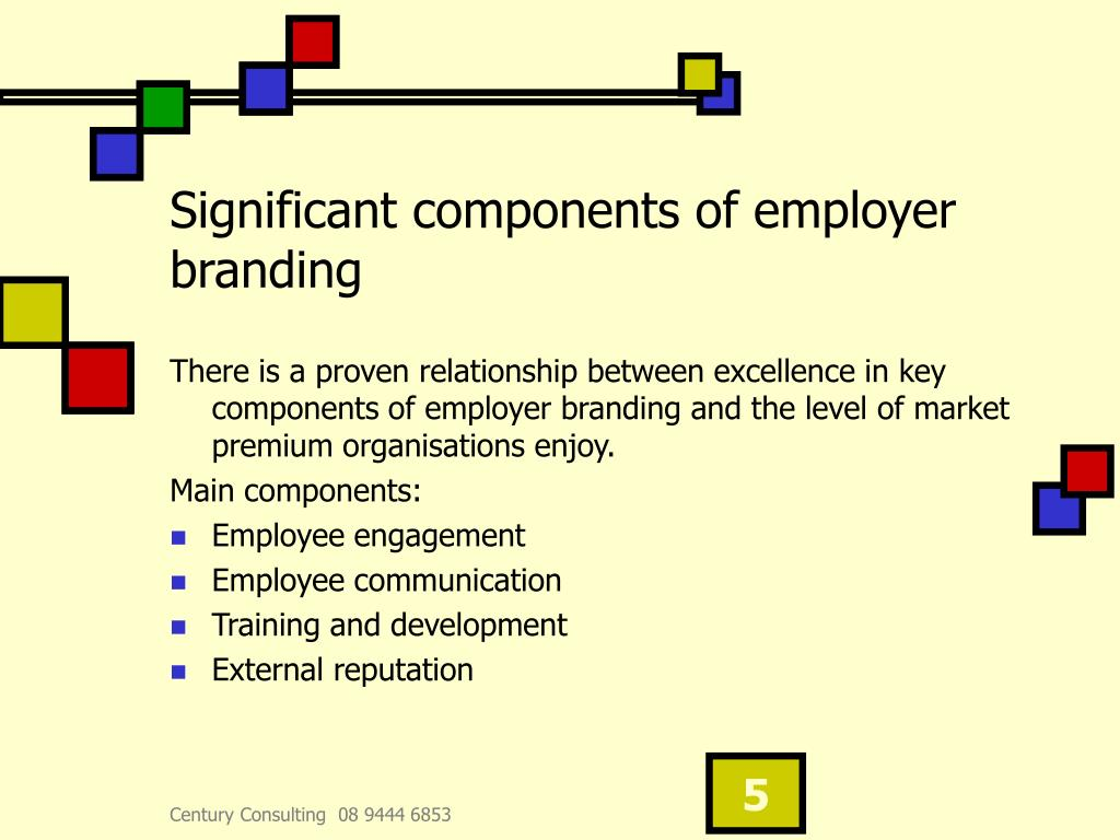 Significant components of employer branding