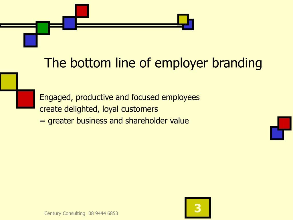 The bottom line of employer branding