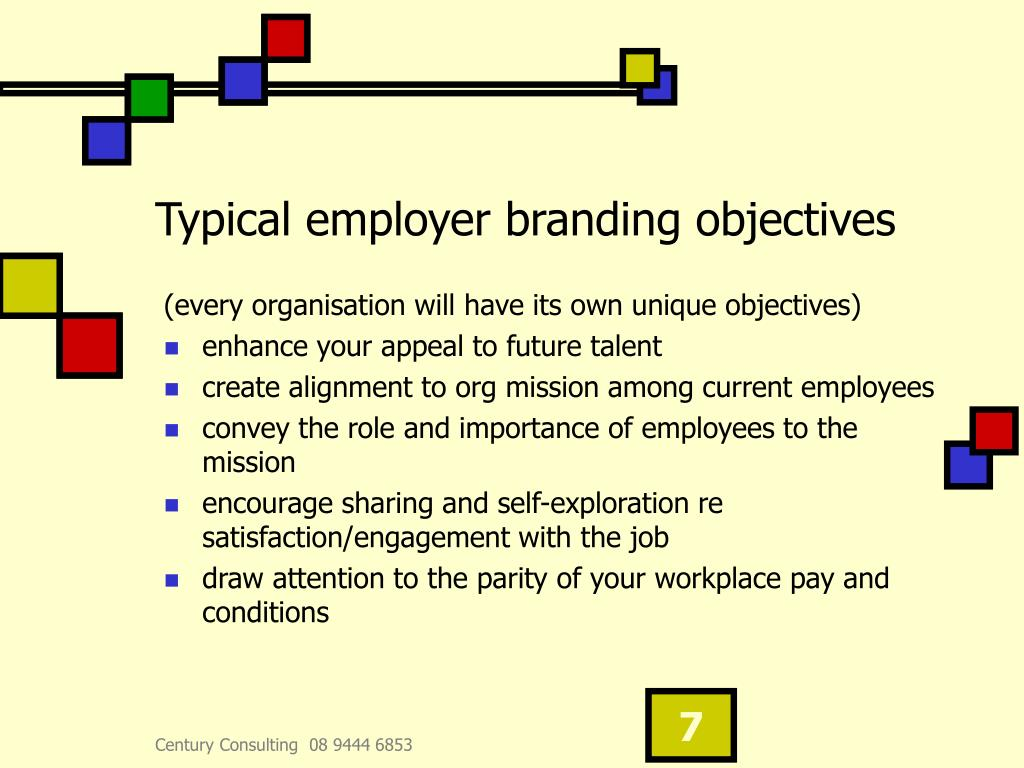 Typical employer branding objectives