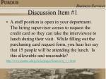 discussion item 1