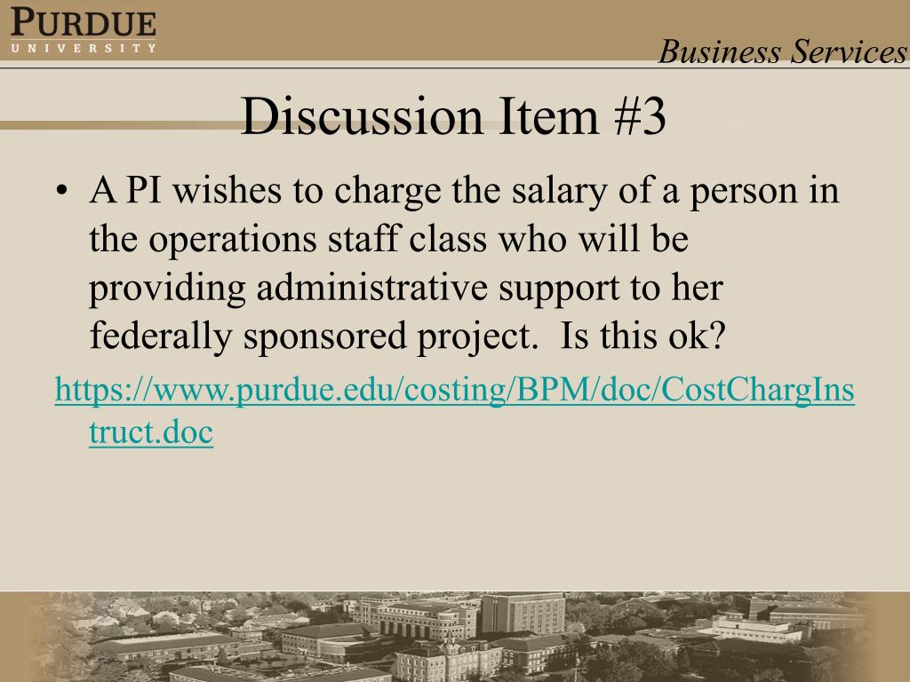 A PI wishes to charge the salary of a person in the operations staff class who will be providing administrative support to her federally sponsored project.  Is this ok?