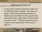 discussion item 5