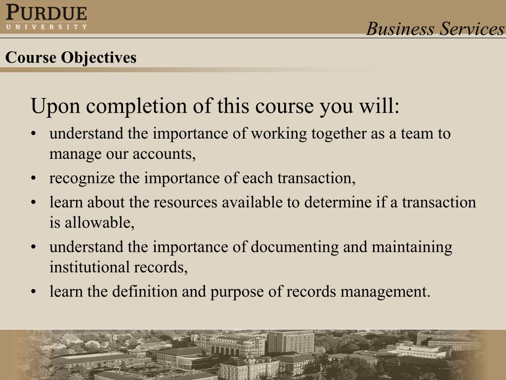 Upon completion of this course you will: