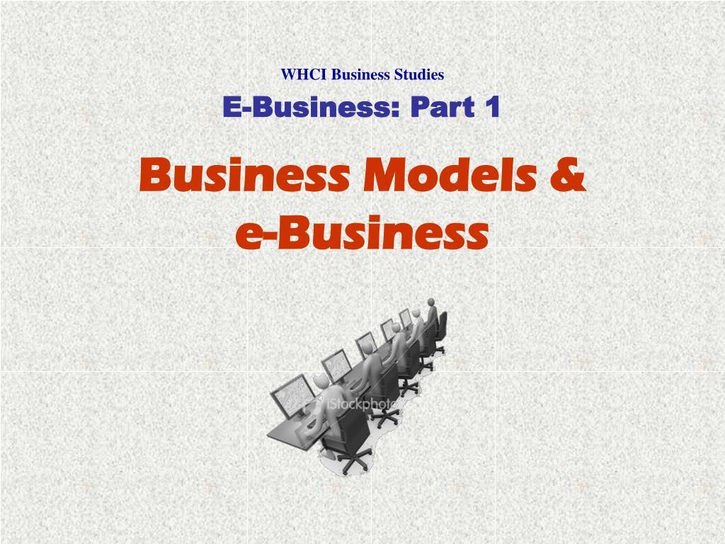 business models e business l.