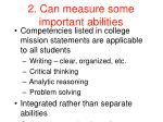 2 can measure some important abilities