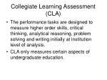 collegiate learning assessment cla
