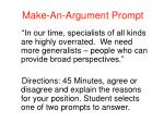 make an argument prompt