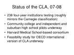 status of the cla 07 08