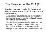 the evolution of the cla 2