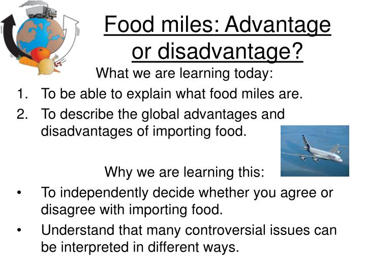 Ppt Food Miles Advantage Or Disadvantage Powerpoint