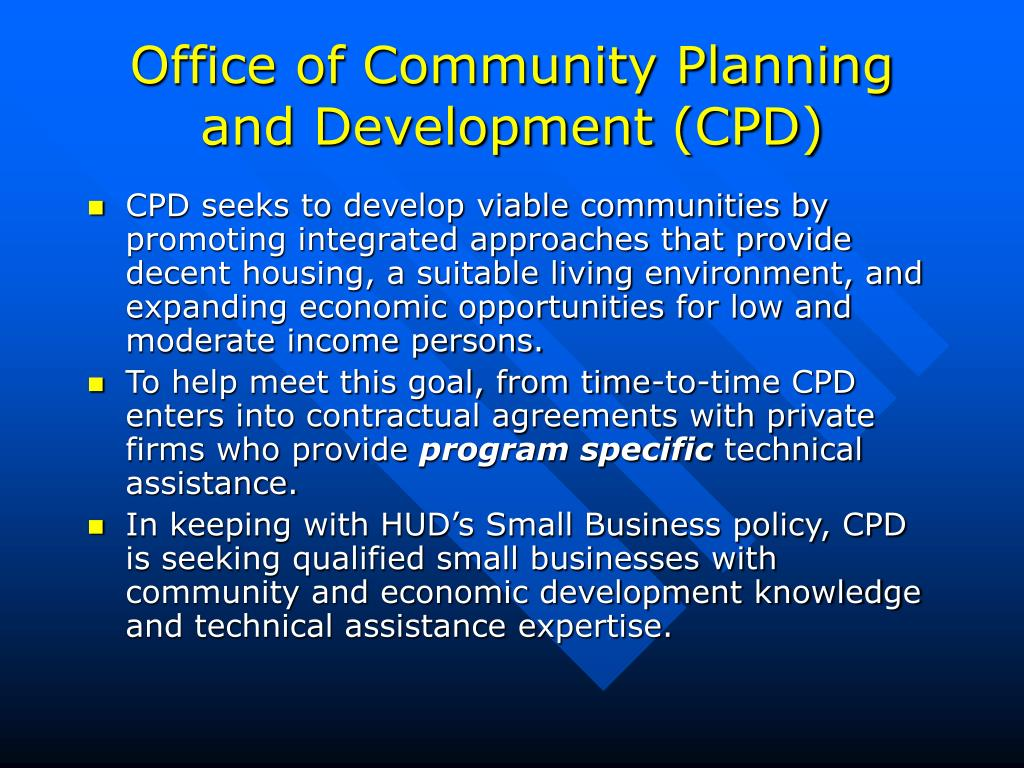 Office of Community Planning and Development (CPD)