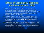 office of community planning and development cpd