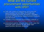 what are the current procurement opportunities with cpd