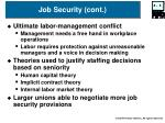 job security cont
