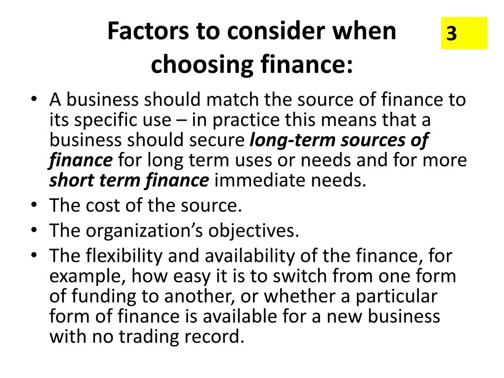 sources of finance Sources of finance allow businesses to operate, expand and pay off debts no business can survive without a steady source of financing the primary sources of funding for most companies are external, dependent on lenders or investors, but there are also internal sources of finance.
