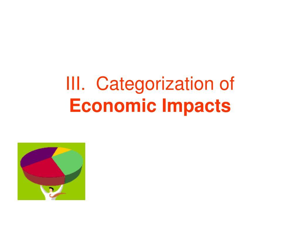 III.  Categorization of