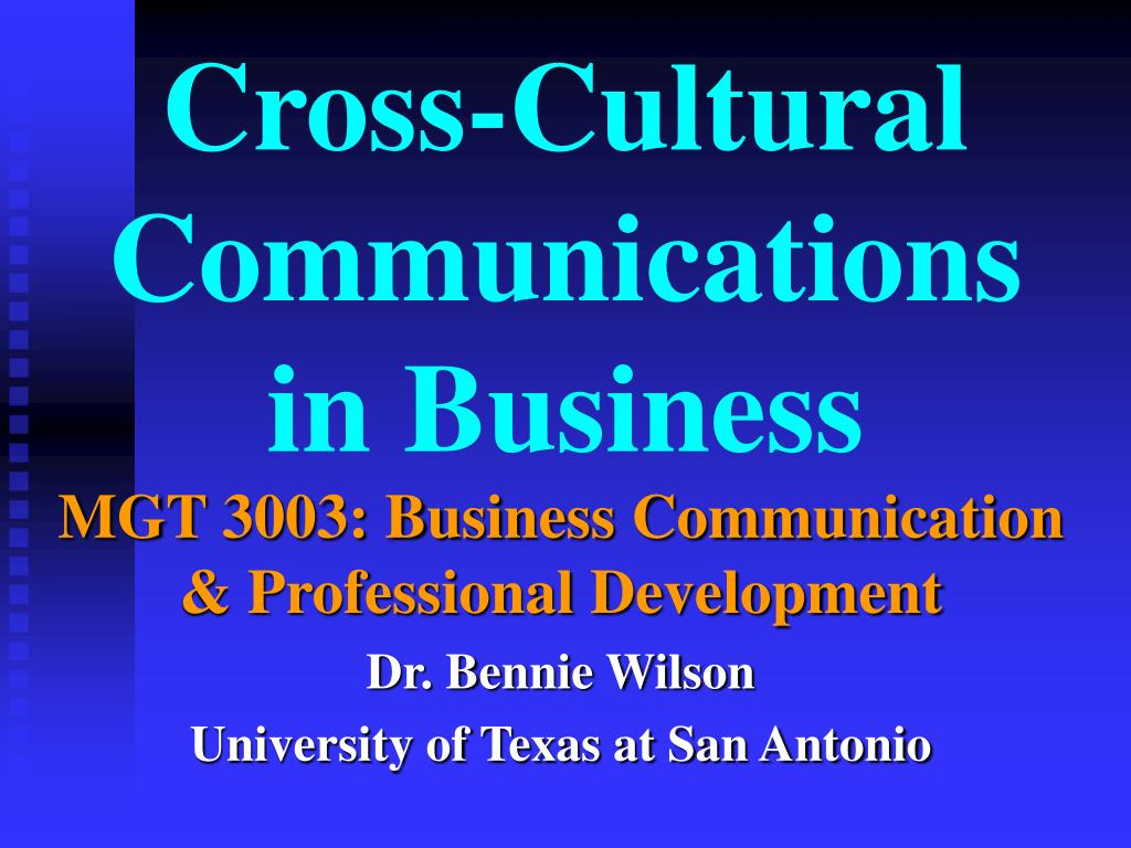 cross cultural communications in business l.
