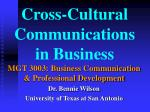 cross cultural communications in business