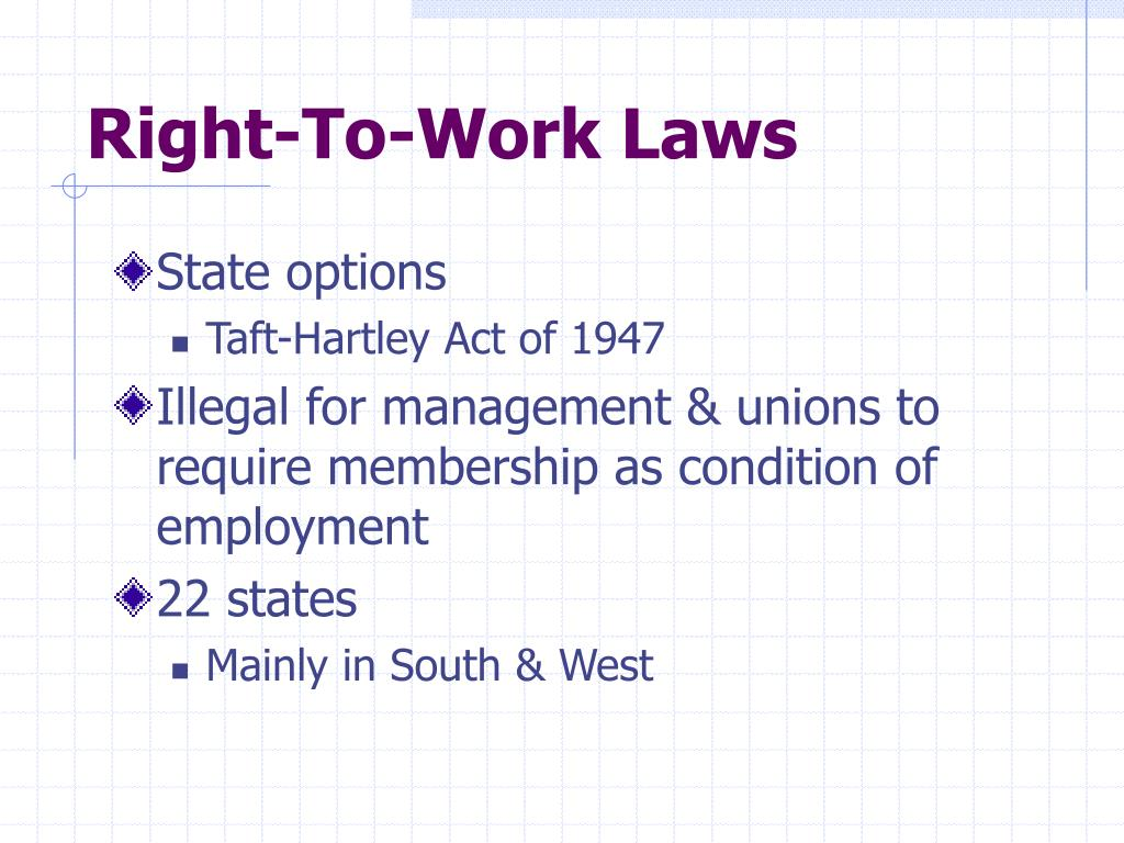 Right-To-Work Laws
