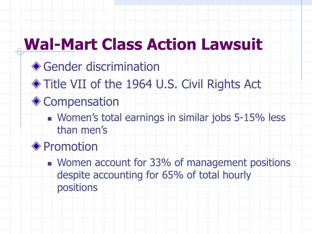 Wal-Mart Class Action Lawsuit