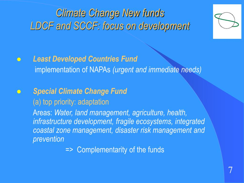 Climate Change New funds
