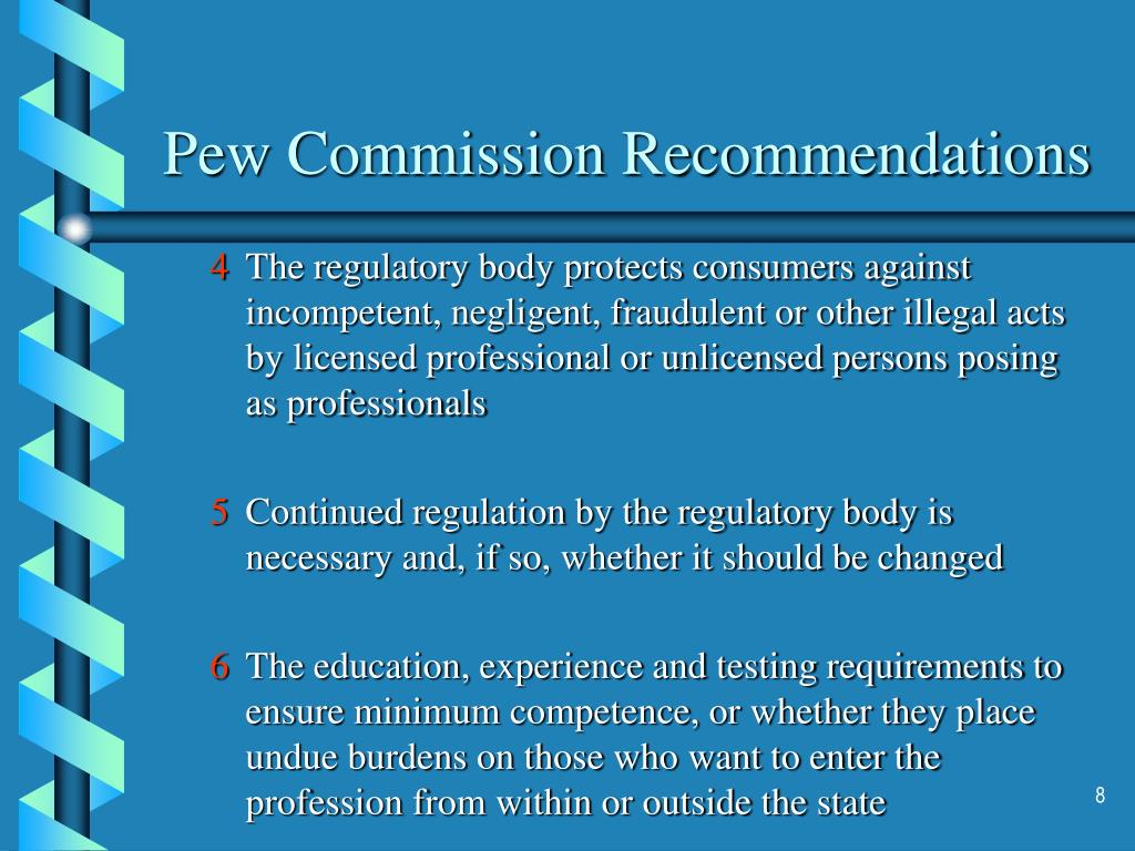 Pew Commission Recommendations