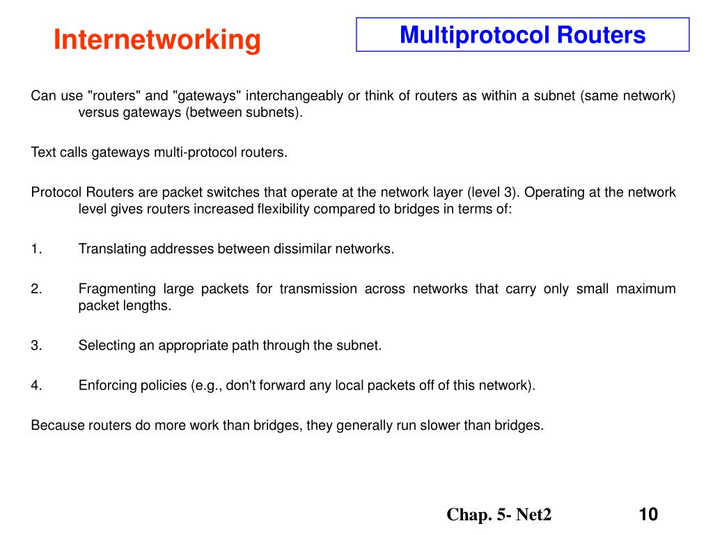 Multiprotocol Routers