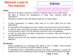 network layer in the internet42