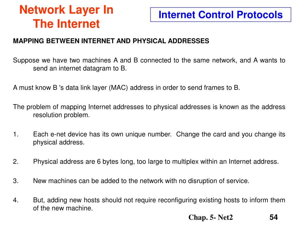 Internet Control Protocols