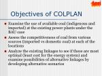 objectives of colplan