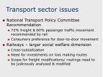 transport sector issues