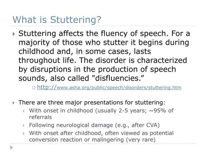 What is stuttering