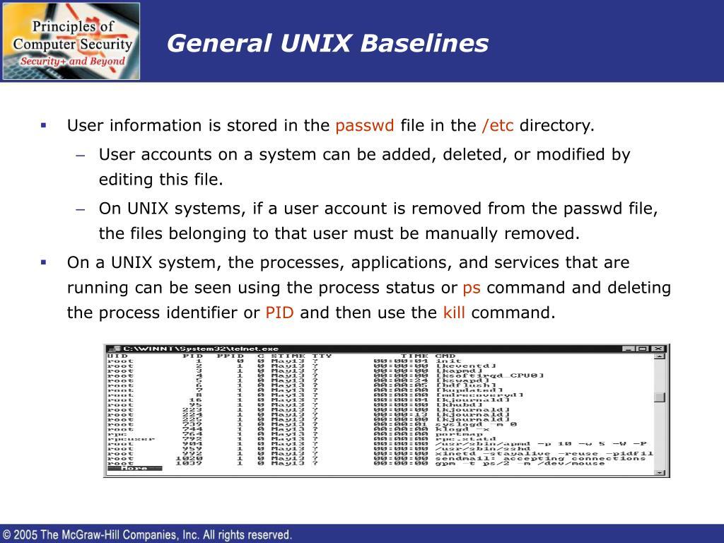 General UNIX Baselines
