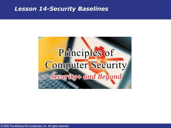 Lesson 14 security baselines