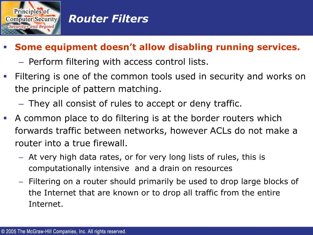 Router Filters