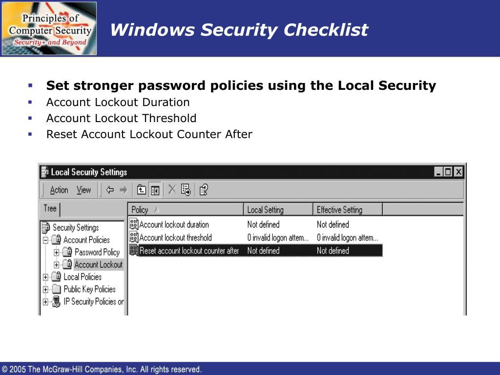 Windows Security Checklist