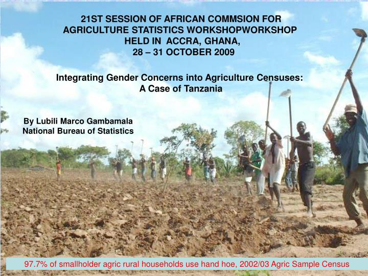 21ST SESSION OF AFRICAN COMMSION FOR