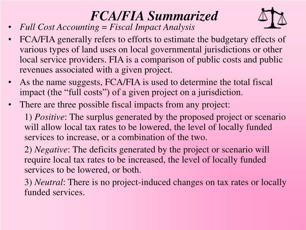 FCA/FIA Summarized
