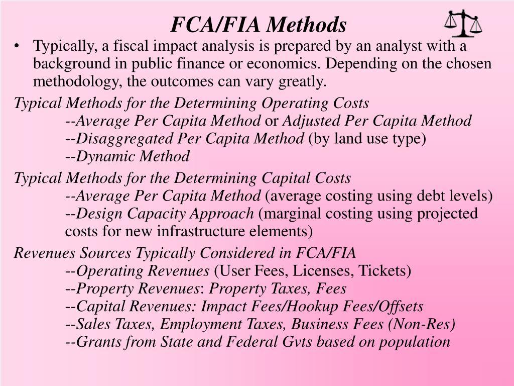 FCA/FIA Methods