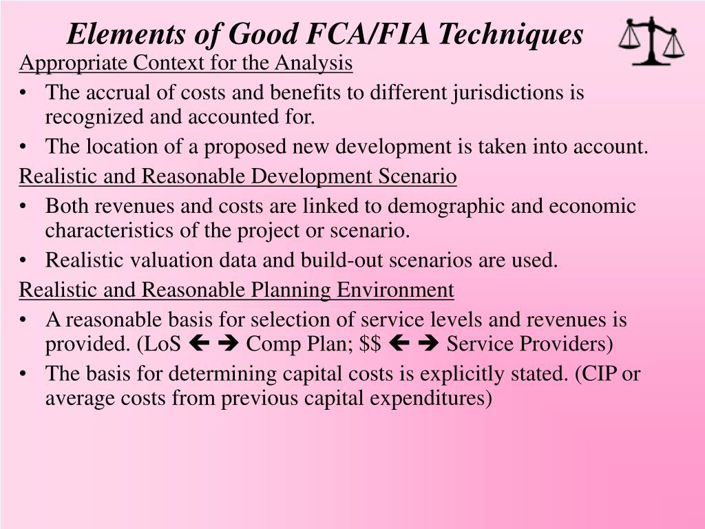 Elements of Good FCA/FIA Techniques