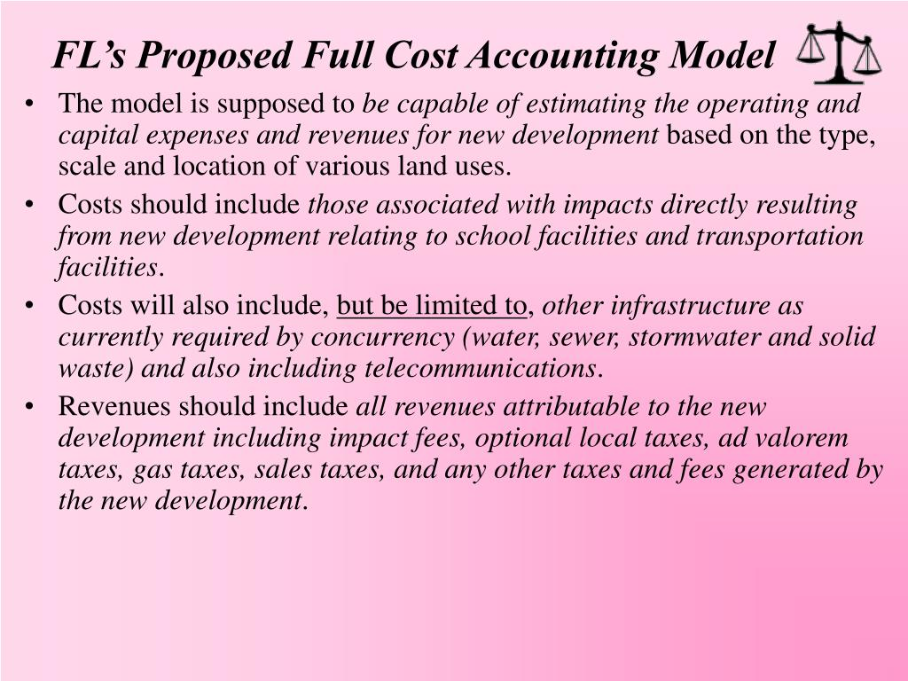 FL's Proposed Full Cost Accounting Model