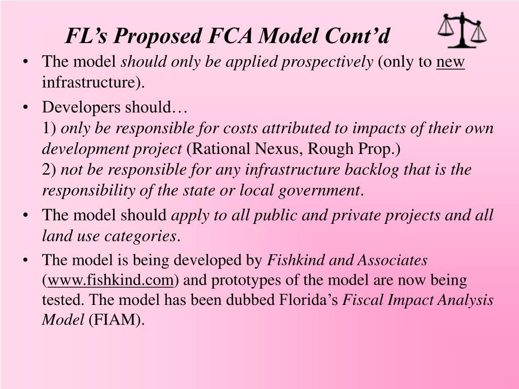 FL's Proposed FCA Model Cont'd