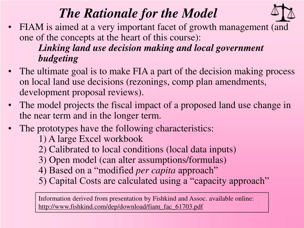 The Rationale for the Model