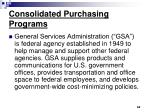 consolidated purchasing programs62
