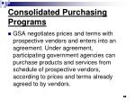 consolidated purchasing programs63