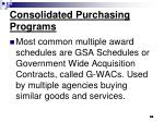consolidated purchasing programs64