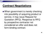contract negotiations76