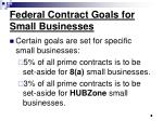 federal contract goals for small businesses