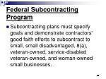 federal subcontracting program