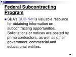 federal subcontracting program55